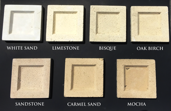cast stone color samples