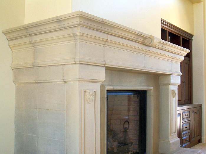 Cast Stone Fireplace Surrounds and Mantels